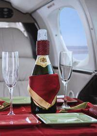 vuelo panorámico sobre Las Vegas en avión privado con cena de 3 platos