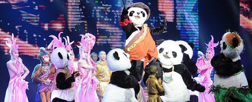 Panda! show en el Palazzo
