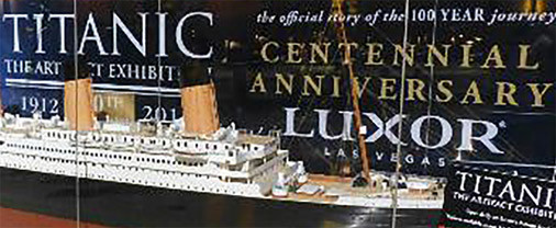 Exposición del Titanic dentro del Luxor