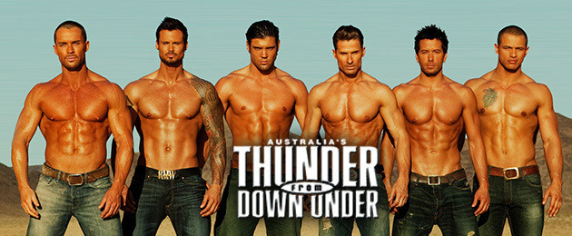 Thunder from Down Under dentro del Excalibur