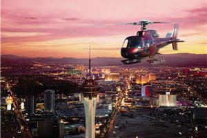 Tour en helicóptero al atardecer por el Strip y la presa Hoover