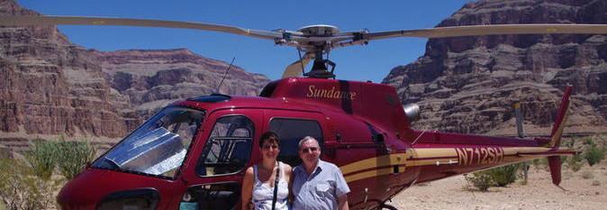 Tour al Gran Cañon en Helicoptero estilo Americano