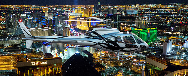 Vuelo nocturno en helicóptero por el Strip
