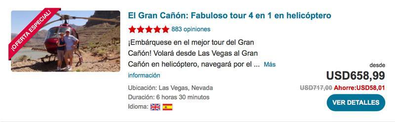 El Gran Cañón: Fabuloso tour 4 en 1 en helicóptero