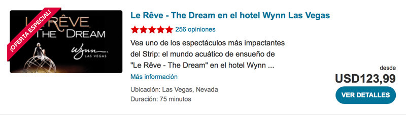 Le Reve - The Dream en el hotel Wynn Las Vegas