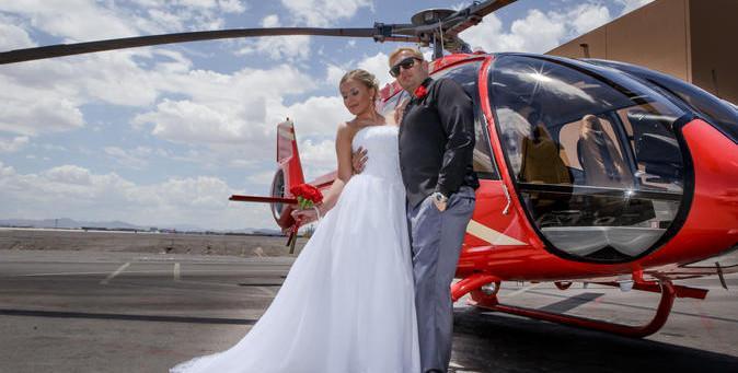 casarse en el gran canon en helicoptero desde las vegas