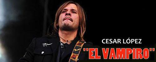 Cesar Lopez El Vampiro en concierto