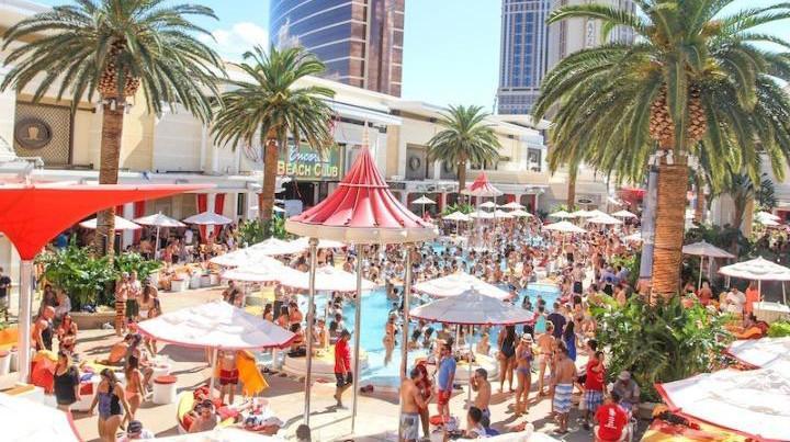 encore beach club pool party