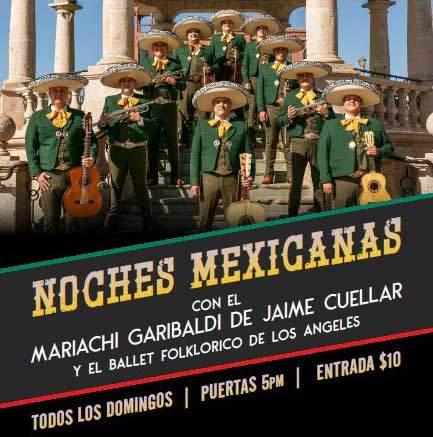 noches mexicanas con el mariachi garibaldi en las vegas