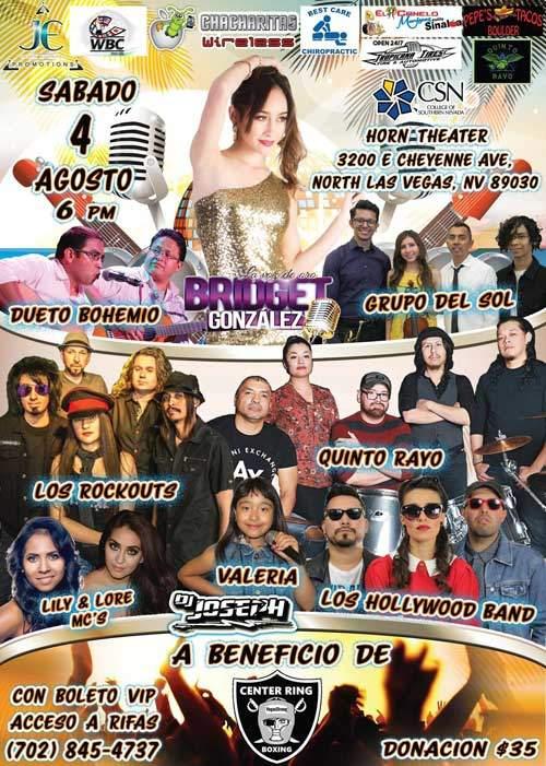 concierto de verano en las vegas con rock y pop 4 de agosto 2018