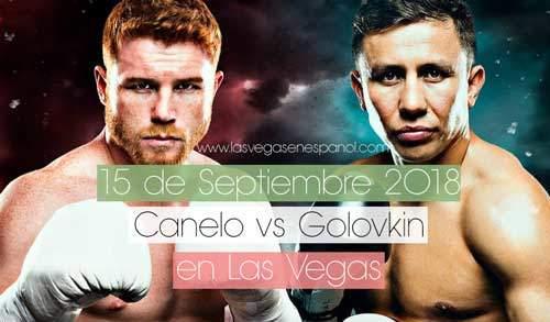 Pelea de Canelo y GGG en Las Vegas 15 de Septiembre 2018
