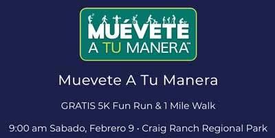 participa en la carrera de 5 kilometros en Las Vegas